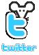 Diseño web usa el ratón redes sociales Twitter